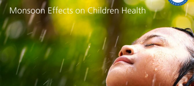How Monsoon Effects on Children Health?